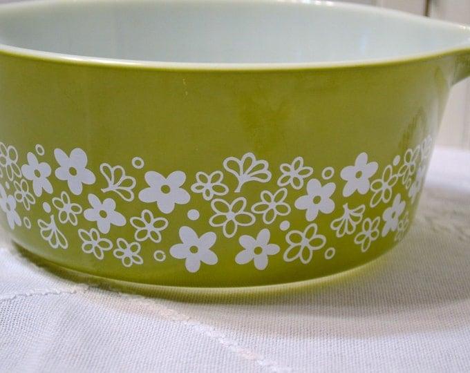 Vintage Pyrex Green Crazy Daisy Spring Blossom Bowl 475B PanchosPorch