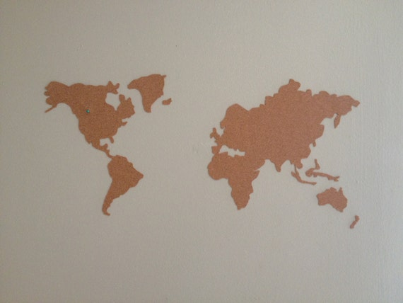 Cork World Map by TheEcoOwl on Etsy