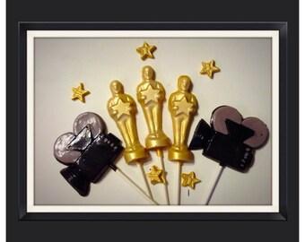 Oscar Theme, hollywood theme movie theme Party - Oscar chocolate lollipops
