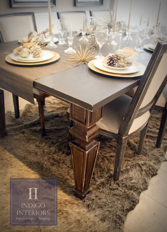 Distressed Farmhouse Style Dining Kitchen Table