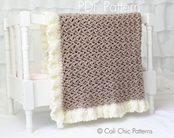 Crochet baby blanket PATTERN 91 - Chocolate Dream Blanket Pattern - Instant Download PDF Pattern