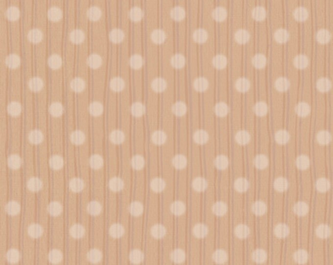 One Yard Snuggle Buddies - Dotted Stripe in Cocoa Brown - Cotton Quilt Fabric - by Stacey Yacula for Quilting Treasures - 23438-A (W2278)