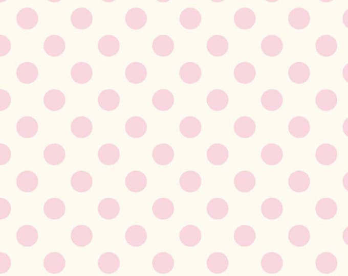One Yard Le Creme Dots - Medium Swiss Cream Dots in Baby Pink - Cotton Quilt Fabric - C620-75 - RBD Designers - Riley Blake Designs (W2453)