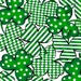 Fat Quarter Kiss Me I'm Irish - Packed Shamrocks in Green - St. Patrick's Day Cotton Quilt Fabric - Quilting Treasures - 23050-Z (W2544)
