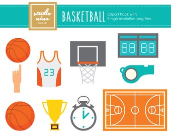 Basketball Clipart Set