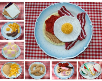 Pick Any 3 Patterns From Knitting / Crochet Pattern Selection - Knitted Toy / Play Food