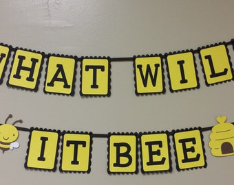 MOMMY TO BEE Banner What Will It Bee Mother To Bee