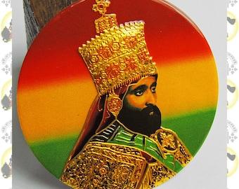 Metal Art Sticker - Haile Selassie I (small)