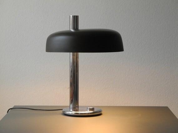 Original XXL Egon Hillebrand Chrom Tischlampe Nachtlampe 70er
