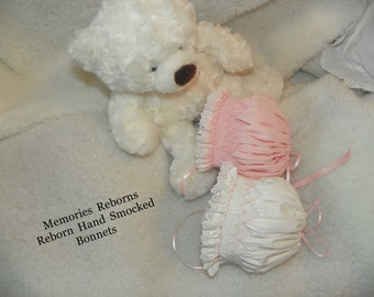 Reborn Preemie smocked bonnet