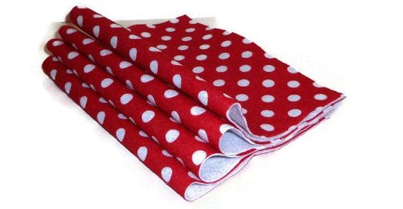 Polka dot felt red felt craft supplies crafting polka for Polka dot felt fabric