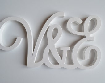 Wooden initials for weddings and ceremonies