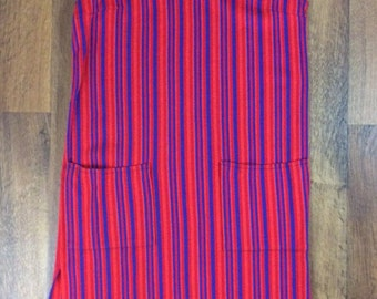 Red & Navy Striped Tunic