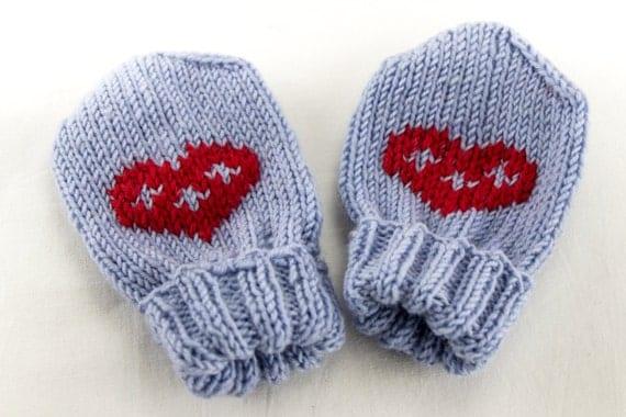 hand stricken baby handschuhe baby f ustlinge ohne daumen. Black Bedroom Furniture Sets. Home Design Ideas