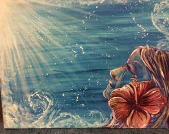 Ocean spray original acrylic on canvas