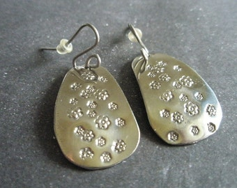 Freeform titanium earrings