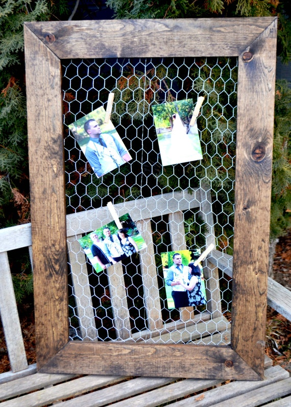 Chicken Wire Frame 24x36rustic Frame Picture