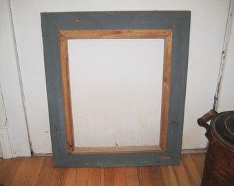 barn wood distressed picture frame rustic shabby frame painted gray frame 16 x 20