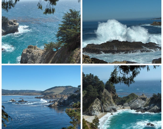 PACIFIC Ocean Greeting Card assorted 4-piece set created from photos taken by Pam Ponsart of Pam's Fab Photos