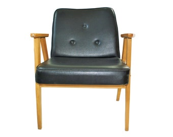 Mid Century Modern Chair - from 1974, in excellent original condition (not restored) BLACK