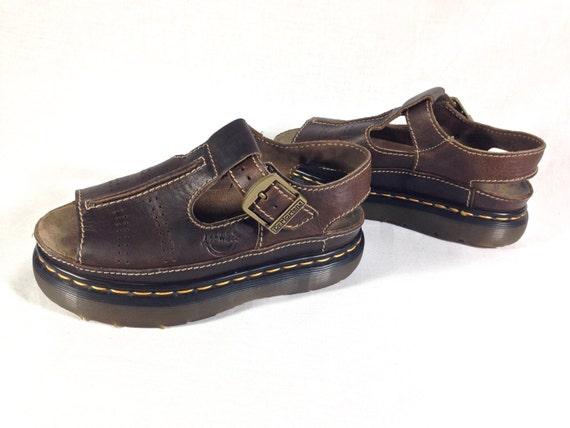 dr martens air wair rugged leather sandals uk size 5 90s. Black Bedroom Furniture Sets. Home Design Ideas