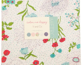 Color Me Happy Layer Cake by V and Co for Moda Fabrics