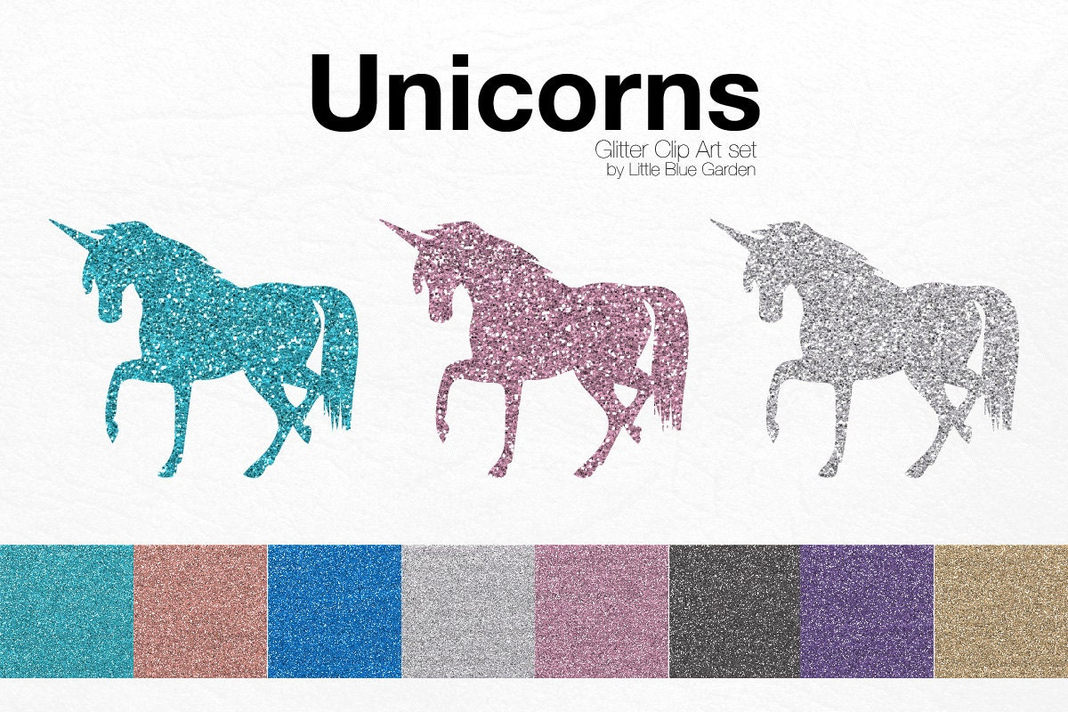 glitter unicorns clip art unicorns graphic design