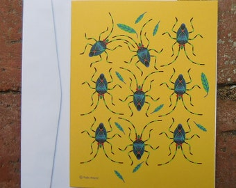 Shield Bugs blank card