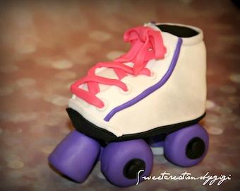 3D Roller Skates Cake Topper