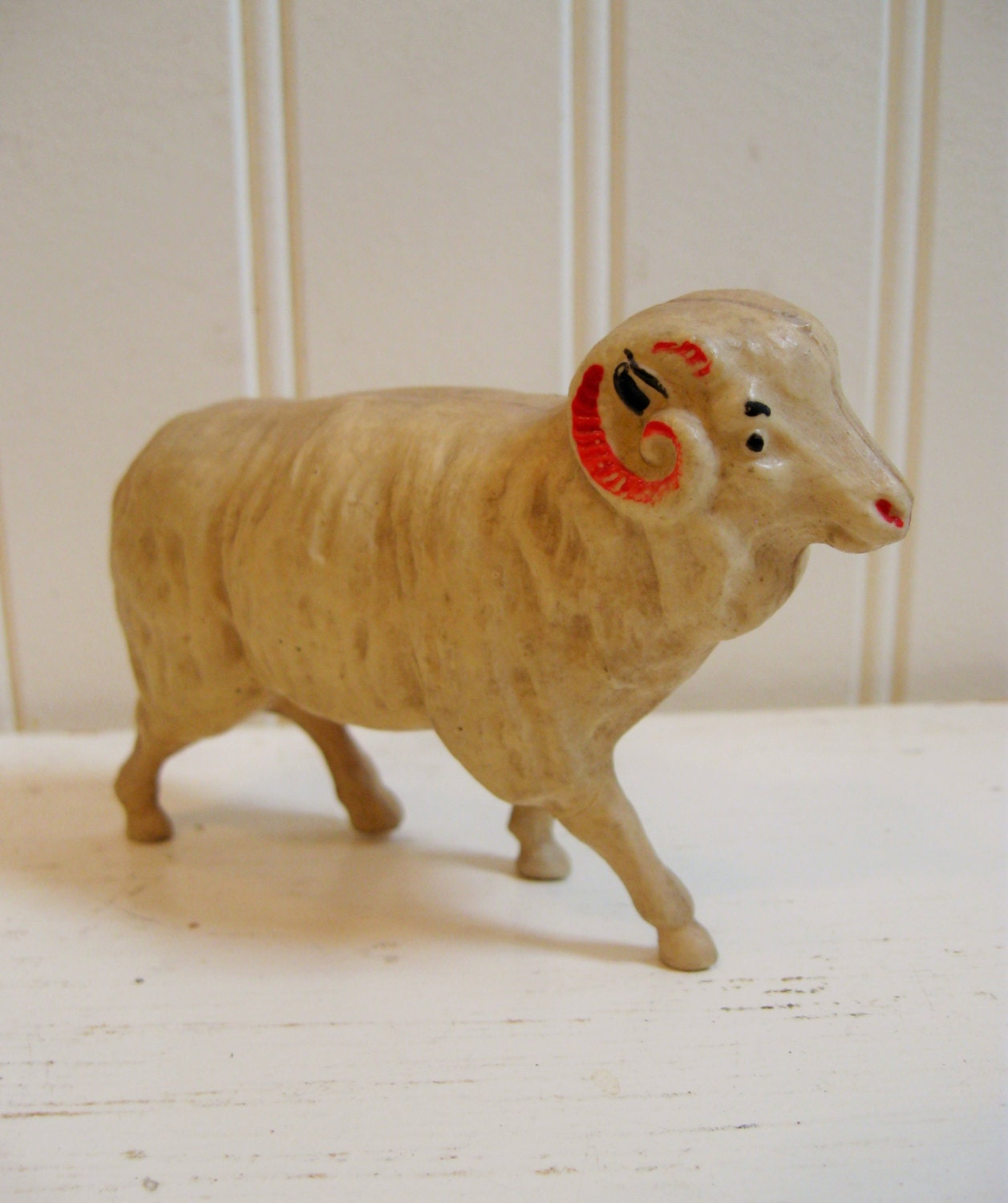 Vintage Celluloid Sheep Antique Toy Sheep Home Decor By