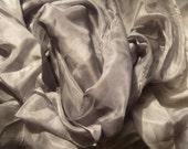 Silk Veil Bellydance Veil Silver Veil 3 yard