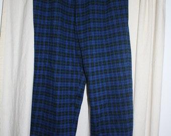 Vintage plaid harem pants