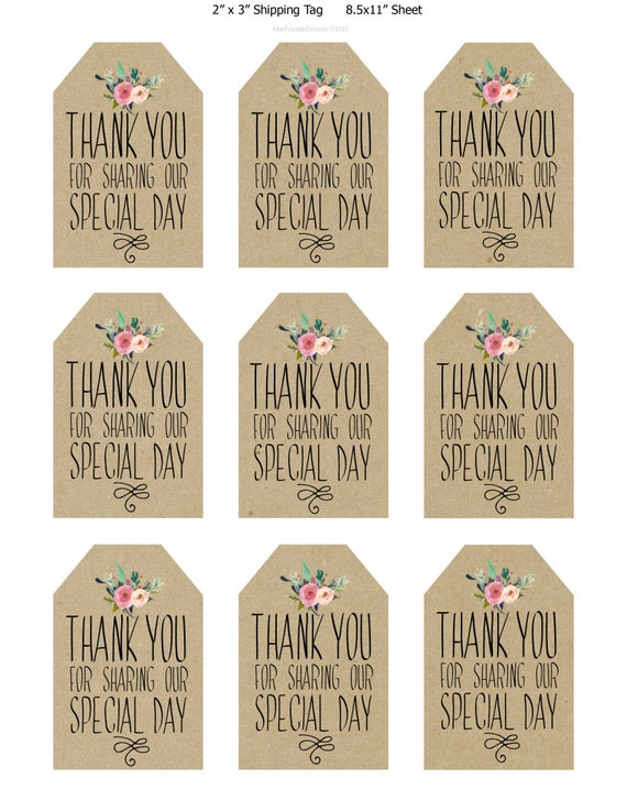 Sassy image with regard to printable wedding favor tags