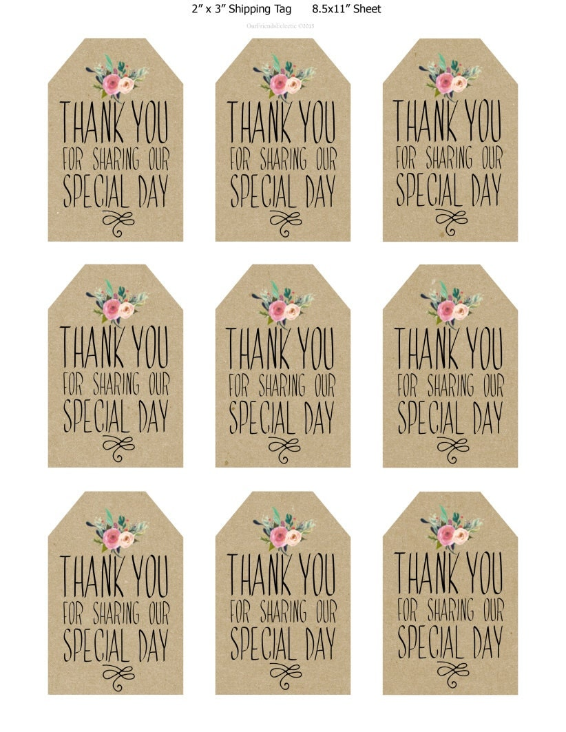 This is an image of Transformative Thank You Tags Printable