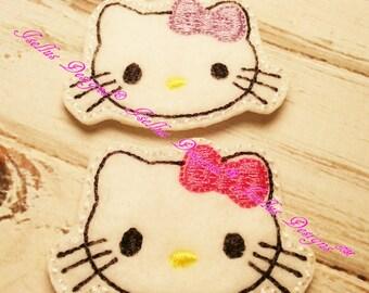 4 Piece Kitty Feltie Set