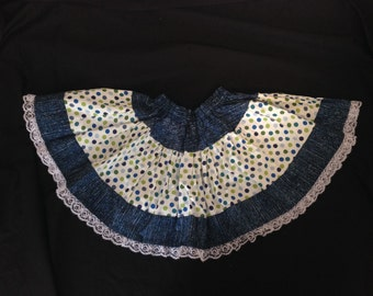 Ready to ship - Little girls skirt with lace hem Size 2T-4T