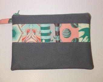 Tula Pink ereader sleeve / iPad Mini sleeve / Kindle sleeve/ pouch