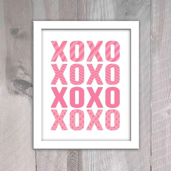Items Similar To Xoxo Valentine 39 S Day Printable