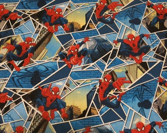 "1/2 yard of 100% cotton ""Spiderman"" Fabric"