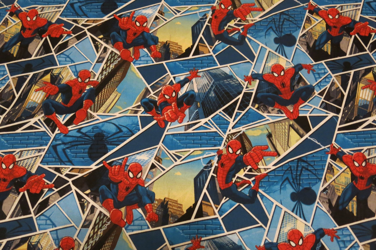 """1/2 Yard Of 100% Cotton """"Spiderman"""" Fabric From"""