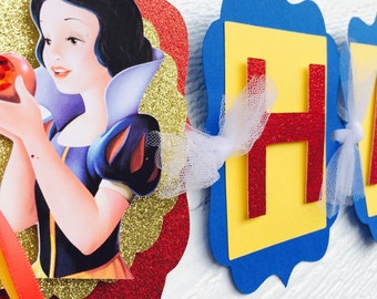 Snow White Birthday Banner , Snow White Party , Snow White banner