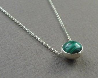Malachite Floating Necklace