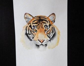 Original Bengal Tiger Watercolor