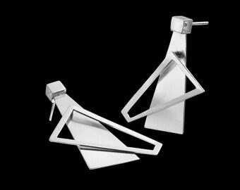 Modern Earrings - Modern Jewelry - Modern Silver Earrings - hedendaagse juwelen