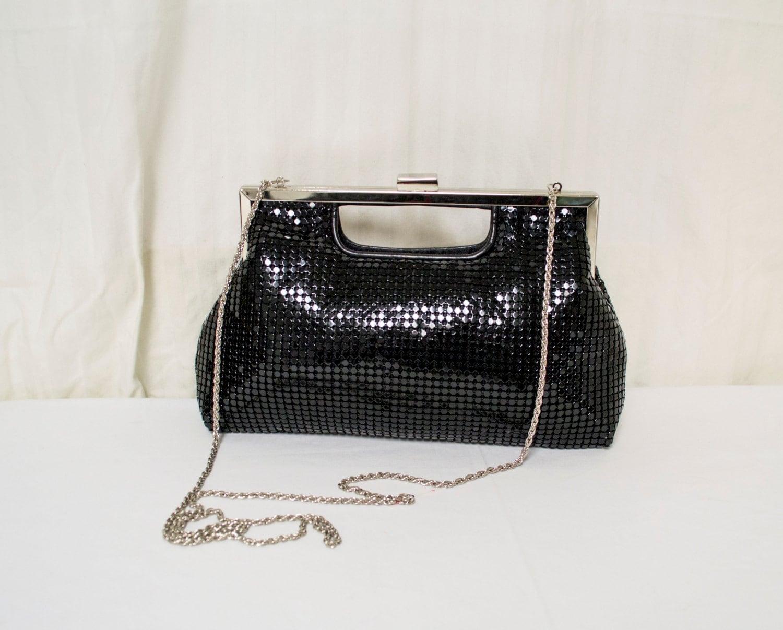 free ship la regale purse metal mesh black by crazygoodbananas. Black Bedroom Furniture Sets. Home Design Ideas