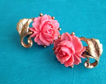 Vintage Rose Gold Earrings Hair Pins