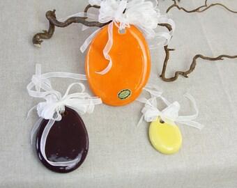 Mobile Ceramic, Easter window decoration, 3 piece
