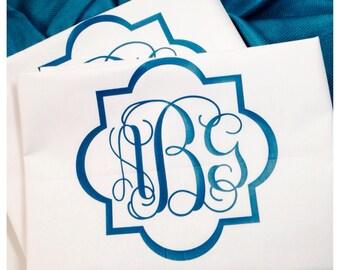 Trellis Bedding - Quatrefoil Bedding - Quatrefoil Pillow Monogrammed