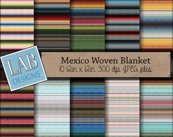Mexican Blanket Digital Paper - Cinco de Mayo   - Digital Paper - Instant Download Seamless Fiesta  Printable Background for Personal Use