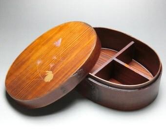 Japanese Bento Lunch Box Magewappa lacquered box natural wood